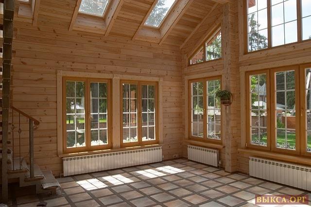 Одноэтажный дом из бруса 6 на 6 по низкой цене